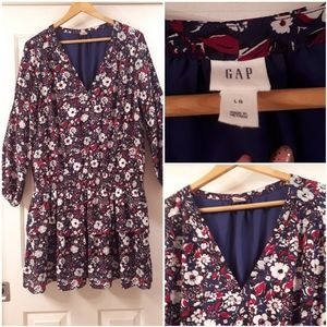 Floral Gap tunic with drop waist ruching!